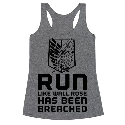 Run Like Wall Rose Has Been Breached Racerback Tank Top