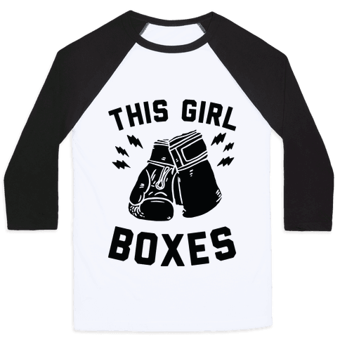 This Girl Boxes Baseball Tee