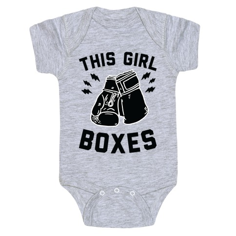This Girl Boxes Baby Onesy
