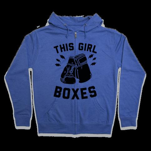 This Girl Boxes Zip Hoodie