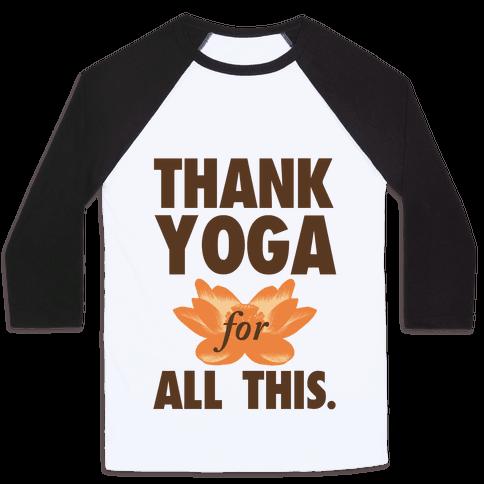 Thank Yoga Baseball Tee