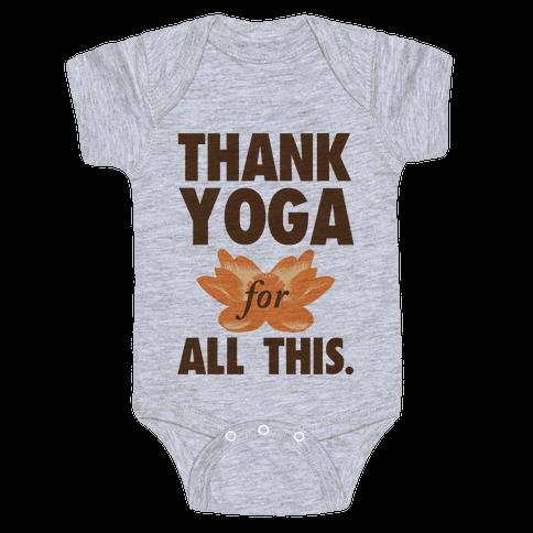 Thank Yoga Baby Onesy