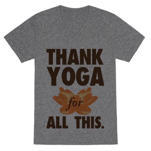 Thank Yoga V-Neck Tee Shirt