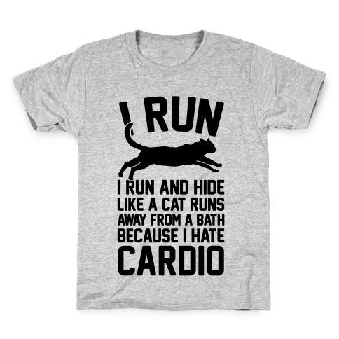 I Run Like A Cat Kids T-Shirt