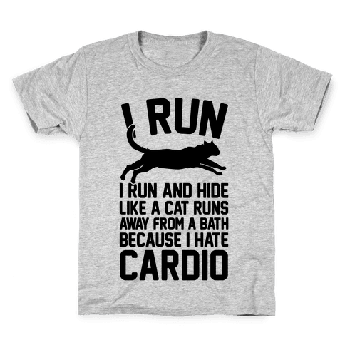 I Run Like A Cat Kids T-Shirt