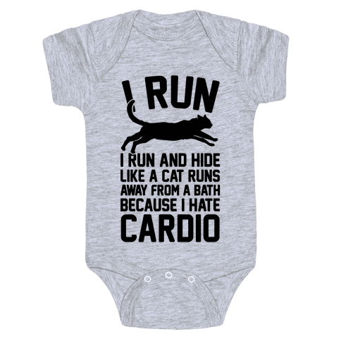 I Run Like A Cat Baby Onesy