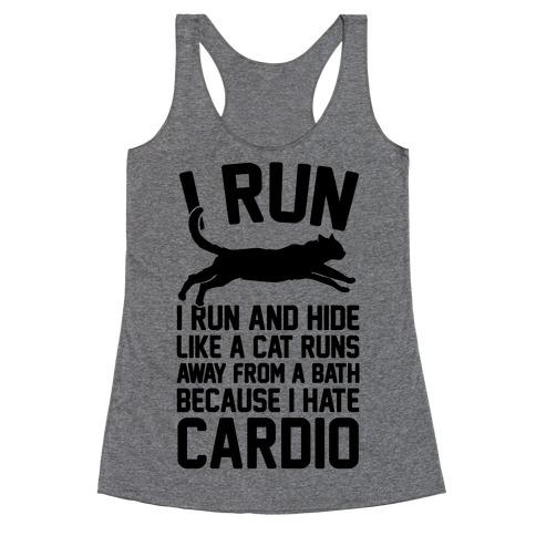 I Run Like A Cat Racerback Tank Top
