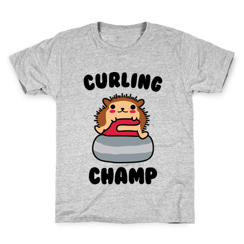 Curling Champ Kids T-Shirt