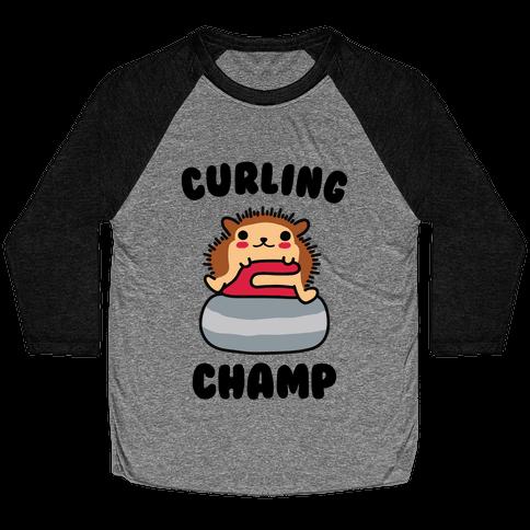 Curling Champ Baseball Tee