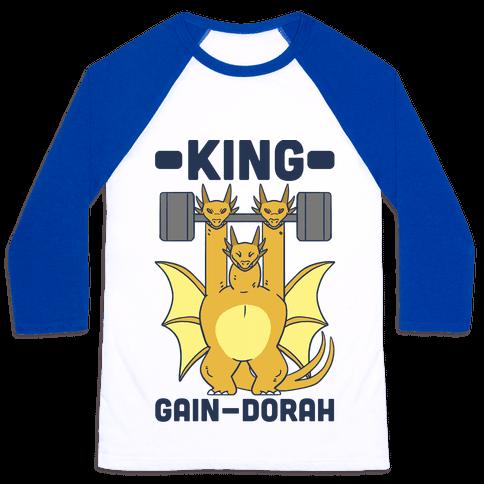 King Gain-dorah - King Ghidorah Baseball Tee