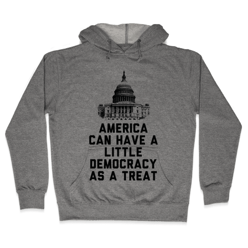 America Can Have a Little Democracy As a Treat Congress Hooded Sweatshirt