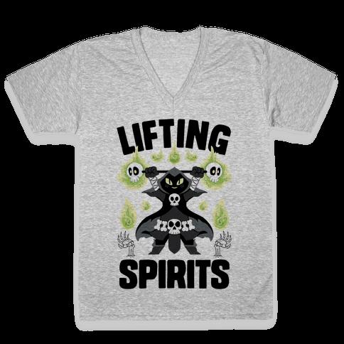 Lifting Spirits V-Neck Tee Shirt