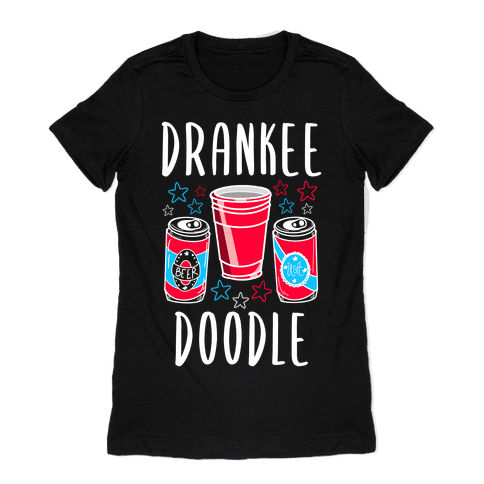 Drankee Doodle Womens T-Shirt