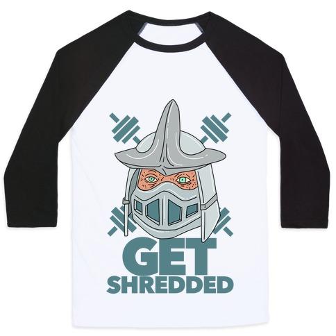 Get Shredded Baseball Tee