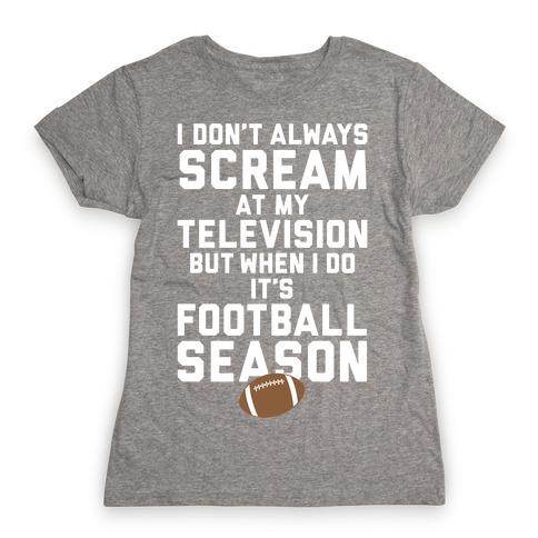 Football Season Womens T-Shirt