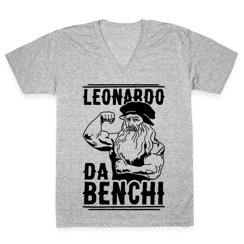 Leonardo Da Benchi V-Neck Tee Shirt