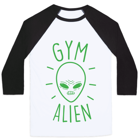 Gym Alien Baseball Tee