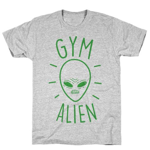 Gym Alien Mens/Unisex T-Shirt