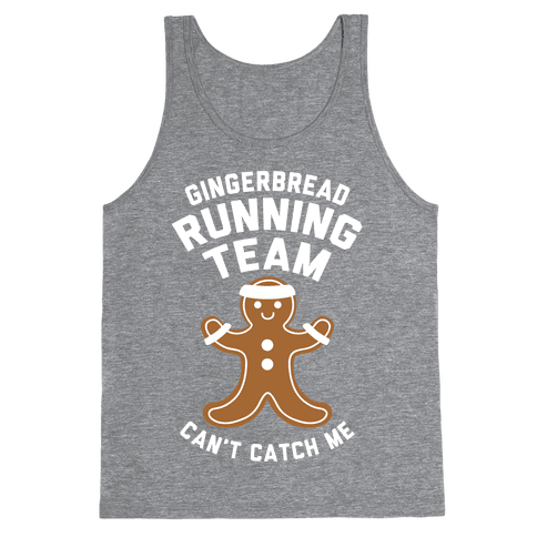 Gingerbread Running Team (White Ink) Tank Top