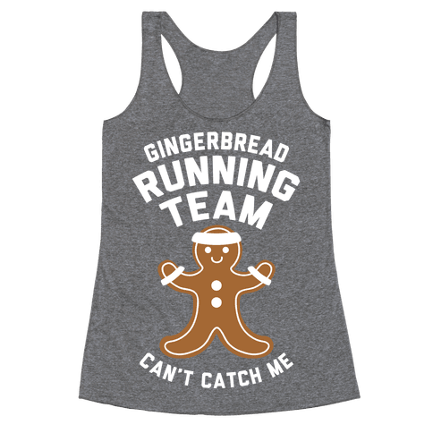 Gingerbread Running Team (White Ink) Racerback Tank Top