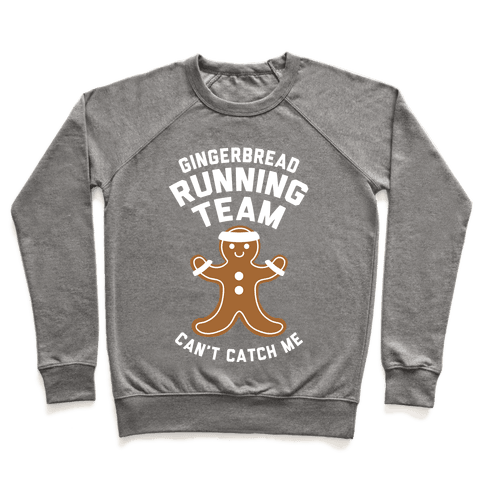 Gingerbread Running Team (White Ink) Pullover