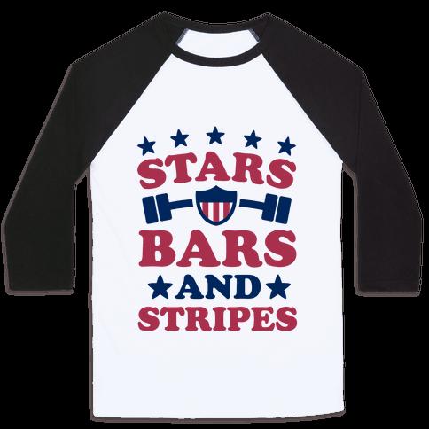Stars Bars and Stripes Baseball Tee