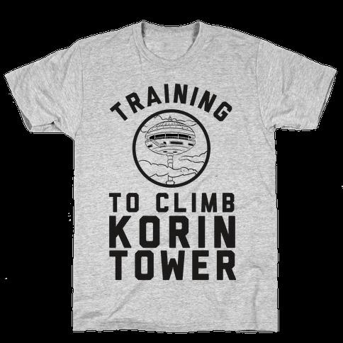 Training To Climb Korin Tower Mens T-Shirt