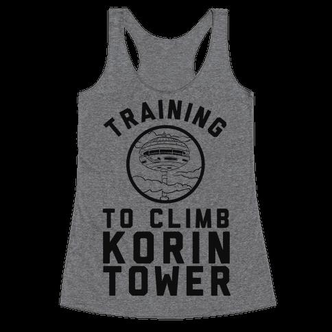 Training To Climb Korin Tower Racerback Tank Top