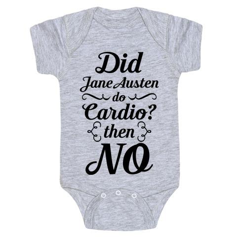 Jane Austen Cardio Baby Onesy