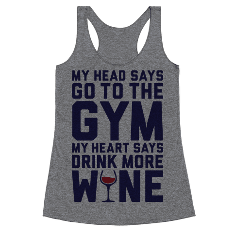 Gym Versus Wine Racerback Tank Top