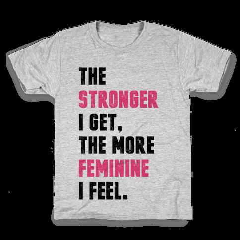 Strong Feminine Workout Kids T-Shirt