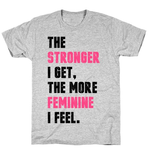 Strong Feminine Workout Mens T-Shirt