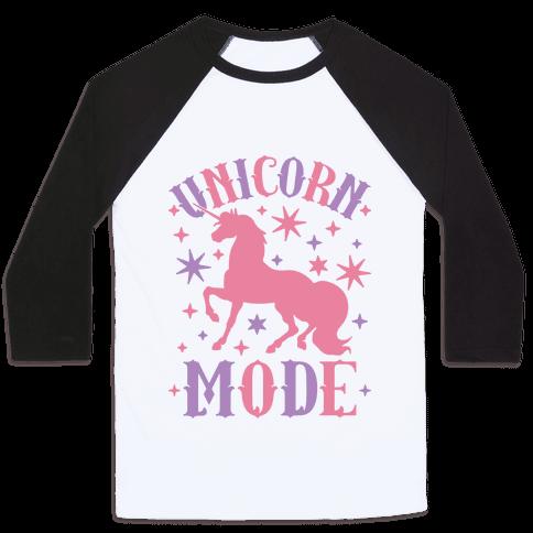 Unicorn Mode Baseball Tee