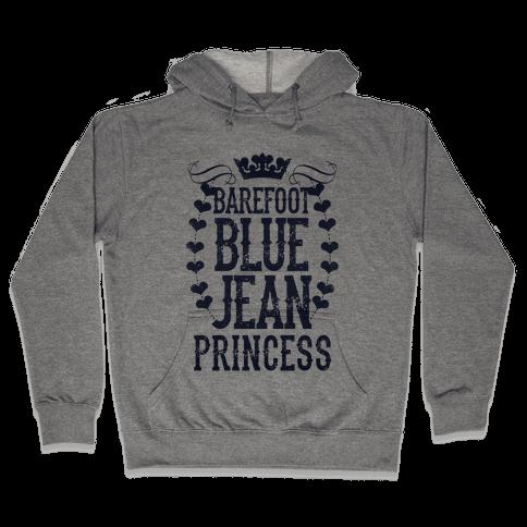 Barefoot Blue Jean Princess Hooded Sweatshirt