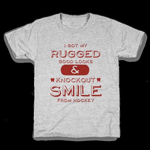 Knockout Hockey Smile Kids T-Shirt