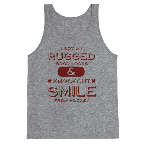 Knockout Hockey Smile Tank Top
