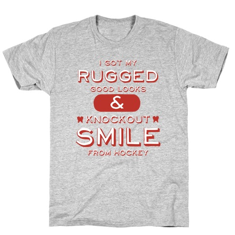 Knockout Hockey Smile T-Shirt