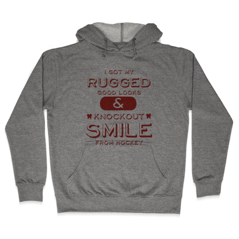 Knockout Hockey Smile Hooded Sweatshirt