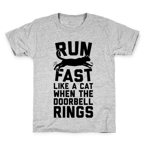 Run Fast Like A Cat Kids T-Shirt
