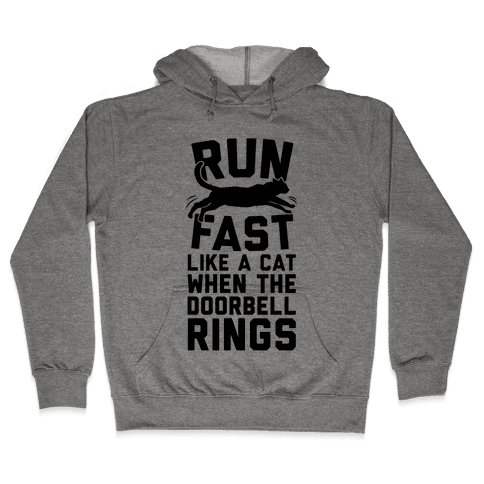 Run Fast Like A Cat Hooded Sweatshirt