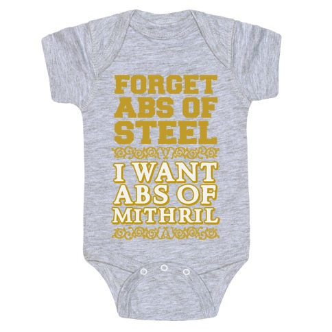 I Want Abs of Mithril Baby Onesy