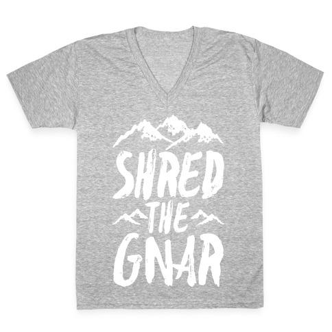 Shred the Gnar V-Neck Tee Shirt