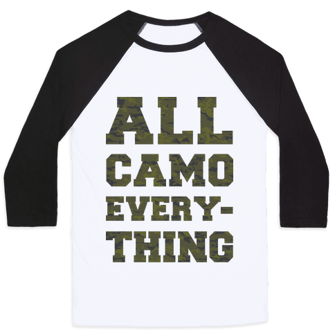 All Camo Everything Baseball Tee