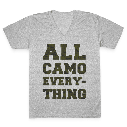 All Camo Everything V-Neck Tee Shirt