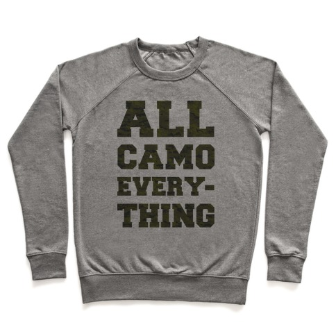 All Camo Everything Pullover