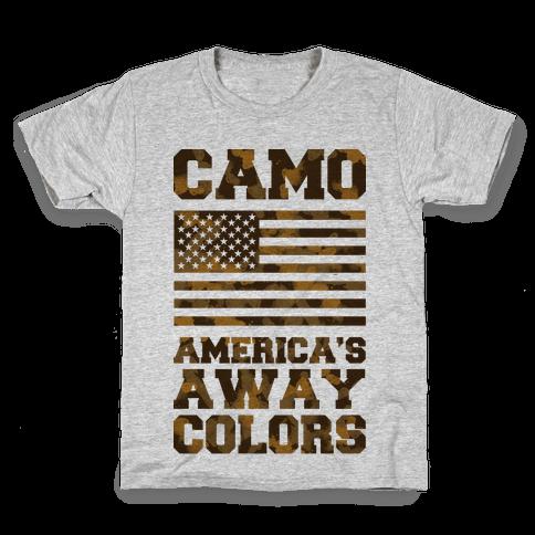 Camo America's Away Colors Kids T-Shirt