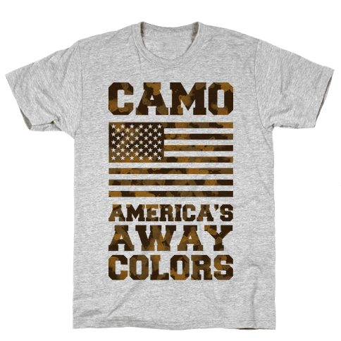 Camo America's Away Colors Mens T-Shirt