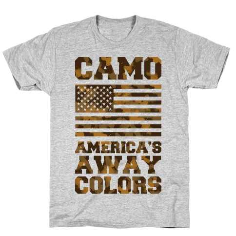 Camo America's Away Colors T-Shirt