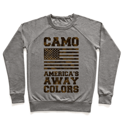 Camo America's Away Colors Pullover