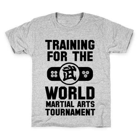 Training for the World Martial Arts Tournament Kids T-Shirt